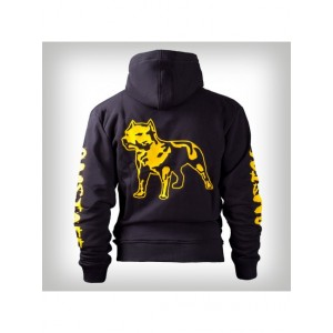 Amstaff mikina so zipsom logo Hoody Yellow